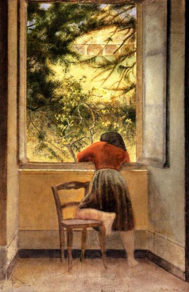 Balthus, Menina na janela, 1955