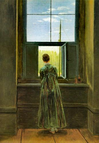 Caspar David Friedrich, Mulher à janela, 1822