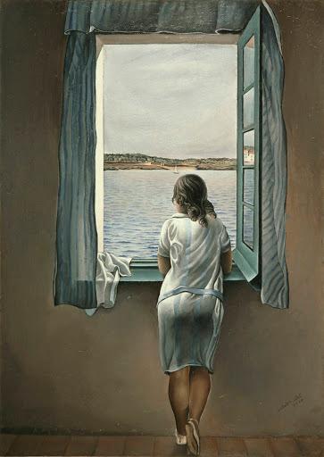 Salvador Dalí, Menina na janela em Figueres, 1925