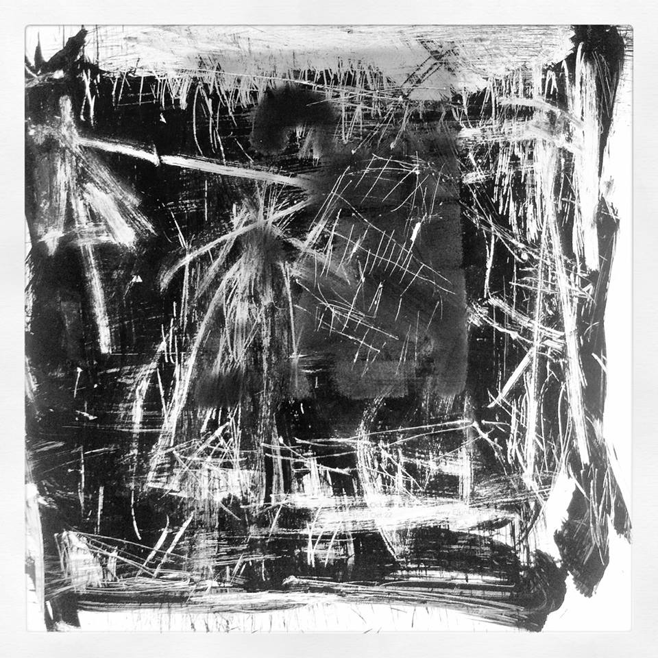 Ameaça de Risco, série aura córtex pixels nanquim. (2014)