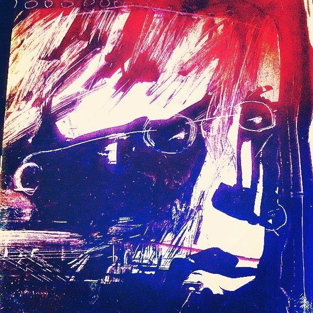 Cabeça, série aura córtex pixels nanquim. (2016)