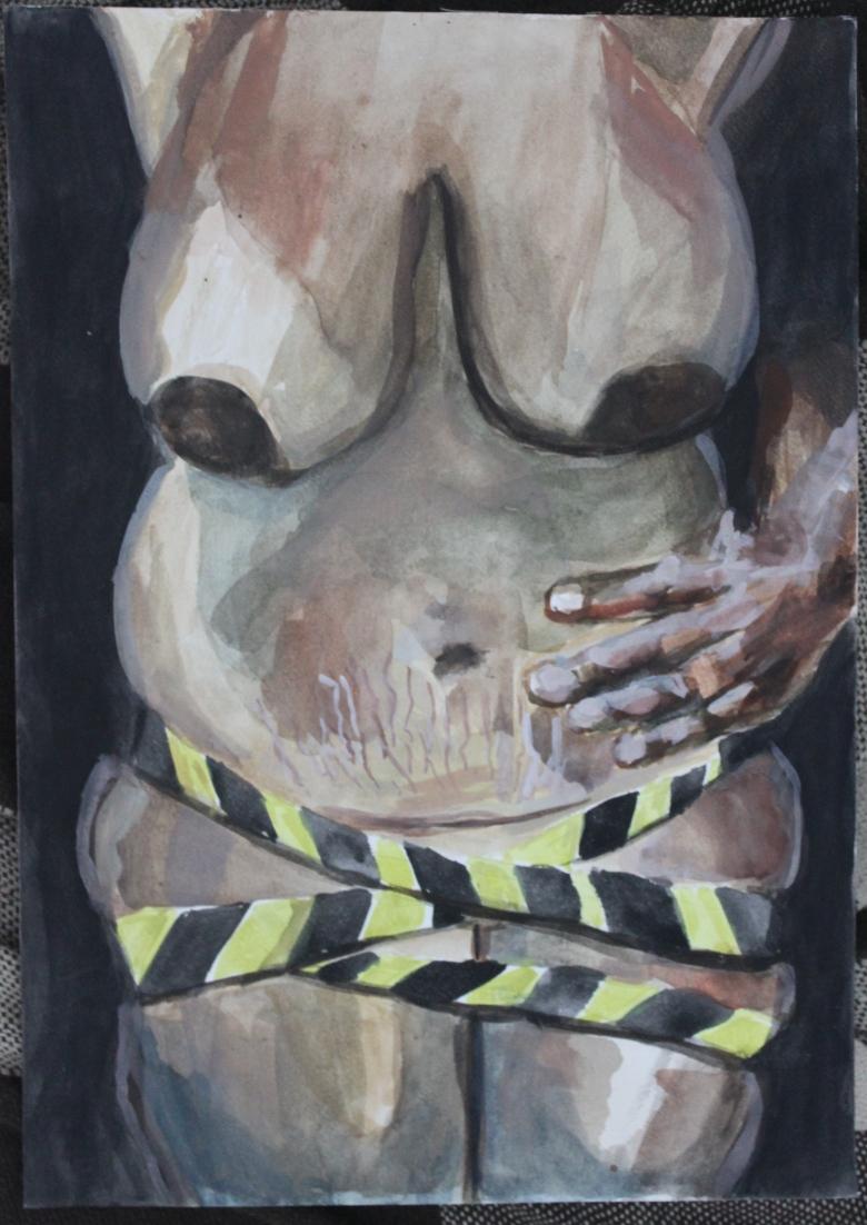 Ex-mulher, aquarela sobre papel. (2018)_