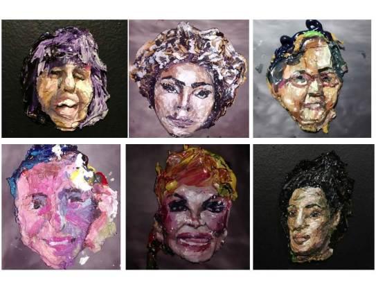 Retratos Insuportáveis, série de esculturas (2018)